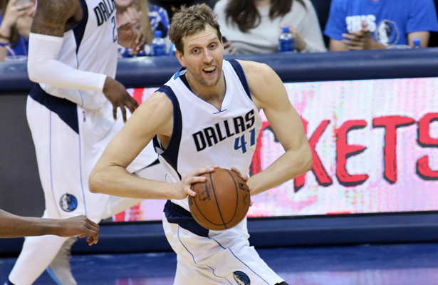Dirk Nowitzki still has a lot in the tank for the Mavericks. Photo Courtesy: Dominic Ceraldi
