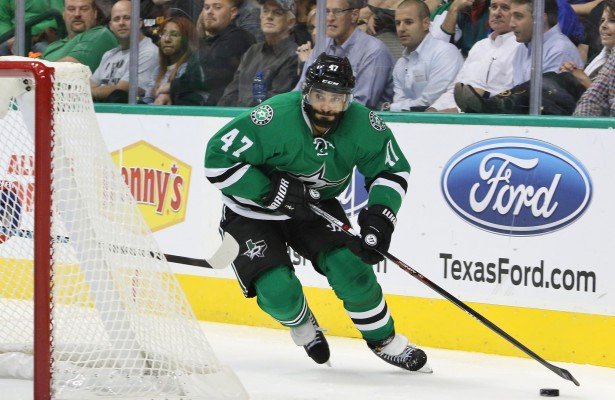 Dallas Stars send Johnny Oduya back to the Chicago Blackhawks where he won two Stanley Cups. Photo Courtesy: Dominic Ceraldi