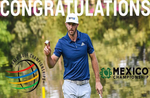 Dustin Johnson survived the back nine to win the Mexican Championship on Sunday. Photo Courtesy: PGA Tour Twitter