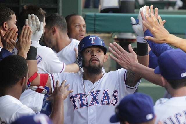 Last season Rangers 2B Rougned Odor smacked 33 HRs and looks to be a force in the line up this season. Photo Courtesy: Darryl Briggs