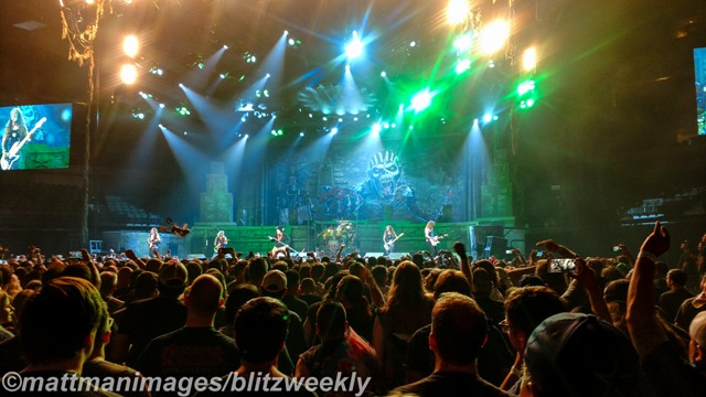 Iron Maiden performed many of their classics Friday night. Photo Courtesy: Matt Pearce