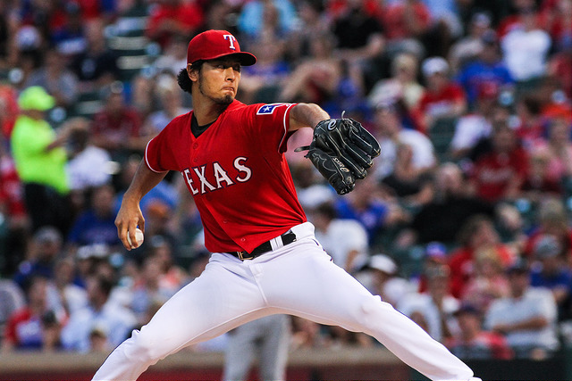 Yu Darvish is currently sporting a 5-4 record, but would certainly appreciate a little more run support. Photo Courtesy: Darryl Briggs