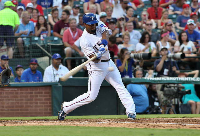 Elvis Andrus is having an excellent season but will be out on paternity leave. Photo Courtesy: Dominic Ceraldi
