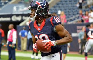 Texans WR DeAndre Hopkins leads the team in recpetions and yardage heading into Week 4 of the NFL. Photo Courtesy: The Brit_2