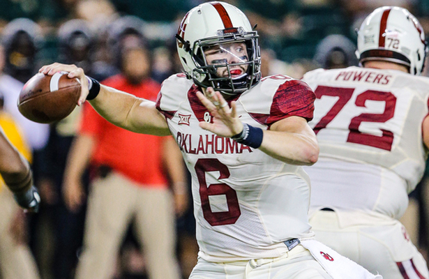 Sooners QB Baker Mayfield knows every play counts in the Red River Rivalry. Photo Courtesy: Mattman1310