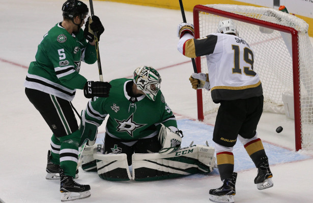 Whoops so much for the hype. Not the way Dallas Stars and Kari Lehtonen wanted to start the season as they drop their first two game, 0-2-0. Photo Courtesy: Michael Kolch