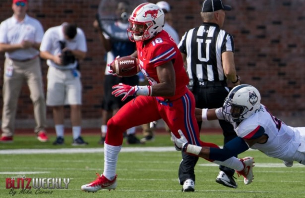The SMU Mustangs need Xavier Jones to find the end zone against Houston. Photo Courtesy: Michael Carnes