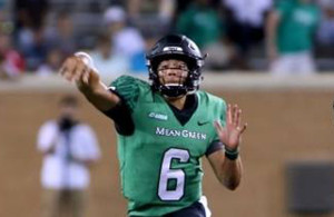 UNT QB Mason Fine will need to make his passes count against FAU this Saturday. Photo Courtesy: Dominic Ceraldi