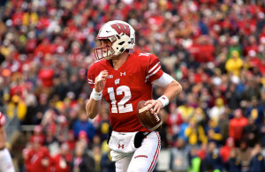Can Alex Hornibrook and the Wisconsin Badgers escape Indy unscathed? Photo Courtesy: MGoBlog