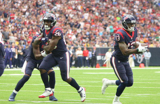 The Houston Texans will need to utilize both Lamar Miller (26) and Braxton Miller (13) this week. Photo Courtesy: Rick Leal