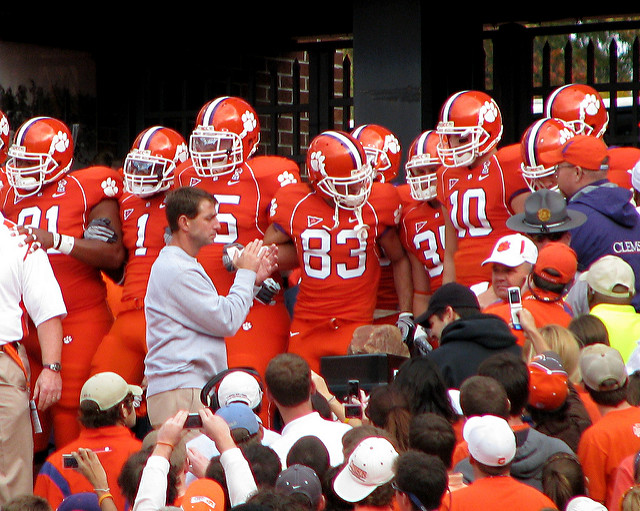 Dabo Sweeney will have his Clemson Tigers fired up to take on the Miami Hurricanes on Saturday. Photo Courtesy: Lauren Nelson