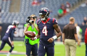 Texans QB DeShaun Watson had his rookie season derailed with an injury in practice earlier this week. Photo Courtesy: Rick Leal