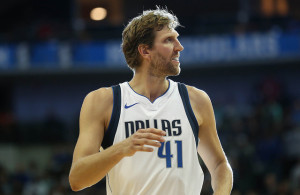 With his performance against the Thunder last Saturday night, it looks like Dirk Nowitzki still has a little gas left in the tank. Photo Courtesy: Michael Kolch