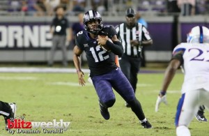 If TCU fans see backup QB Shawn Robinson early in the game, then they'll know their in trouble. Photo Courtesy: Dominic Ceraldi