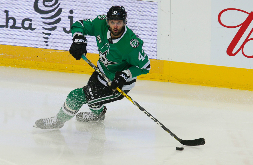 Alexander Radulov saves a potential disastrous road trip for the Stars as the Russian winger scored in four consecutive games. Photo Courtesy: Michael Kolch