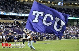 The TCU Horned Frogs hope to be parading their flag after the game. Photo Courtesy: Dominic Ceraldi