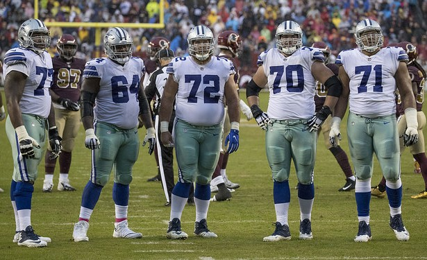 The Cowboys offensive line needs to be the difference makers in their game against the Raiders. Photo Courtesy: Keith Allison