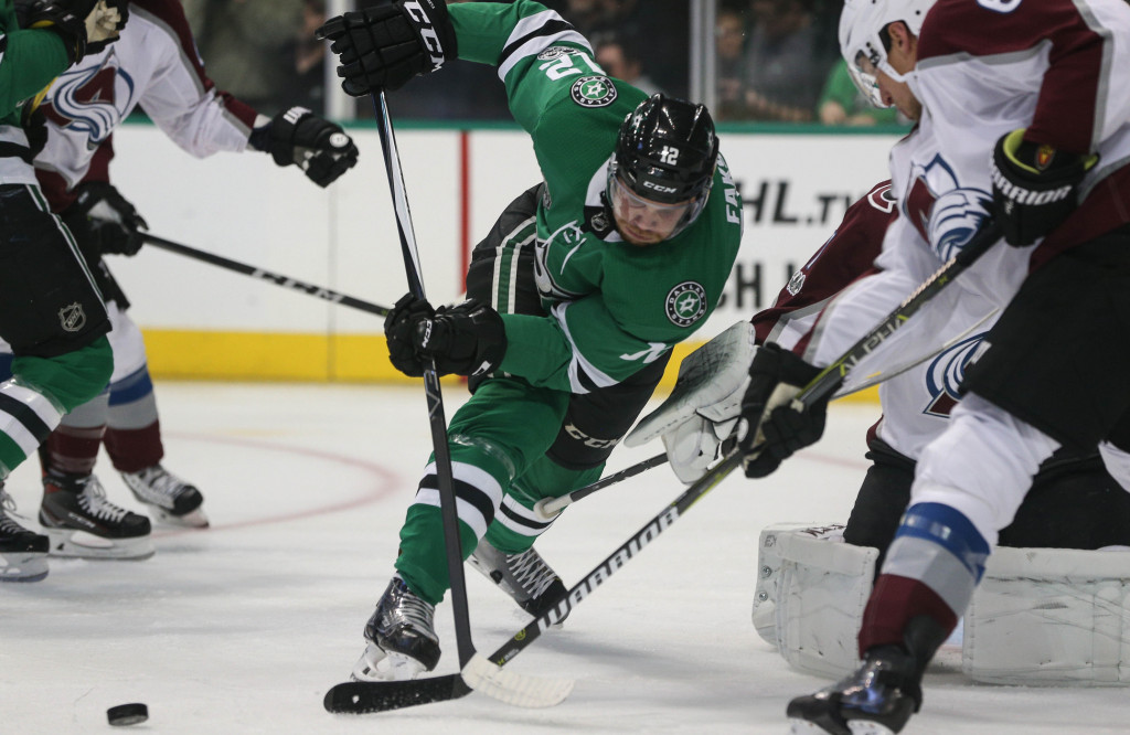 Radek Faksa is carrying the Stars through a five-game winning streak. Faksa has five goals during the streak. Photo Courtesy: Michael Kolch