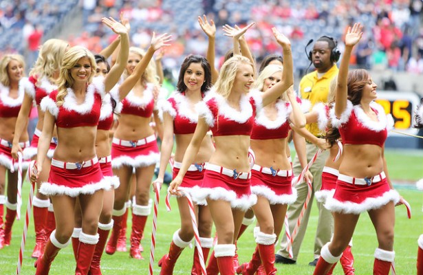 The Houston Texans cheerleaders will be the bow on the Texans victory present today. Photo Courtesy: Rick Leal