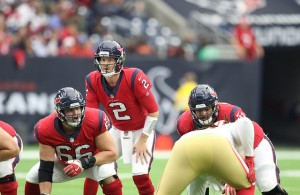 T.J. Yates is now the helmsman for the Texans. Photo Courtesy: Rick Leal