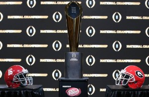 One of these two teams will earn the title, the trophy and bragging rights on Monday night. Photo Courtesy: CFP National Championship Facebook Page