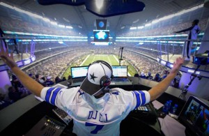 DJ EJ at a Dallas Cowboys game at AT&T Stadium