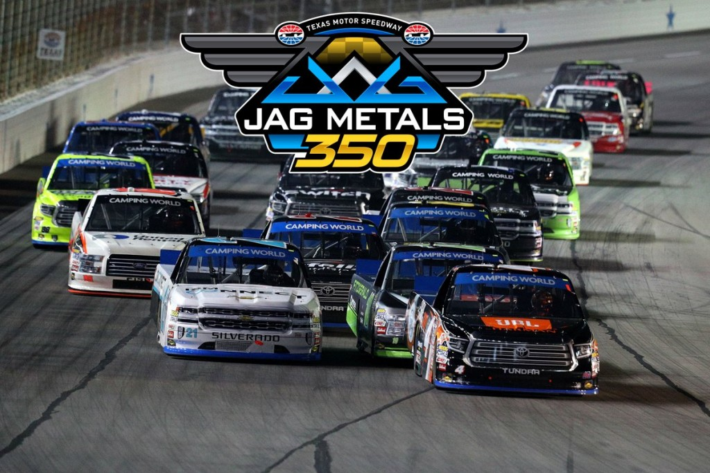The JAG Metals 350 NASCAR Camping World Truck Series race will drop the green flag on Friday, Nov. 2 (Photo courtesy of Texas Motor Speedway)
