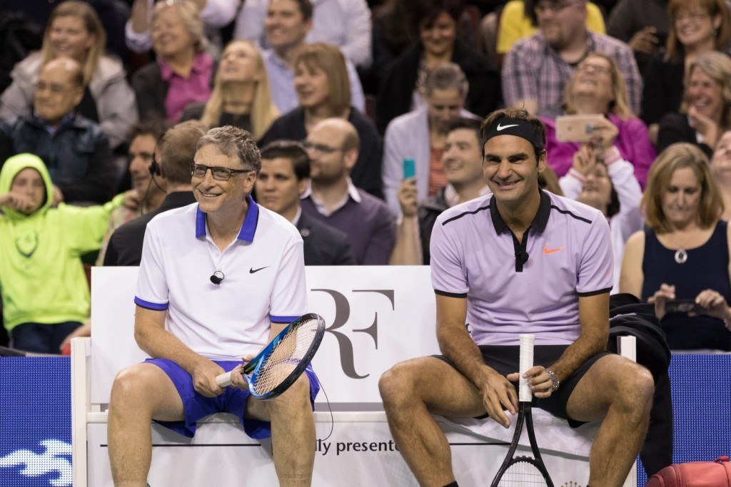 Bill Gates and Roger Federer - Match for Africa (Photo/Match for Africa)