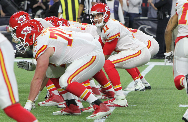 Alex Smith and the Chiefs can win their first home playoff game since 1994 with a victory over the the Titans. Photo Courtesy: Rick Leal