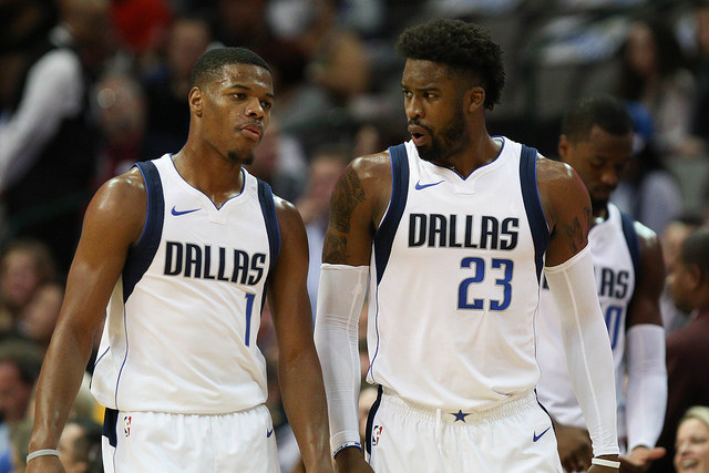Dennis Smith Jr. (l) and Wesley Matthews (r) had a tough road trip last week. Photo Courtesy: Michael Kolch
