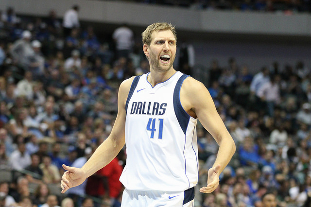 After all these years Dirk Nowitzki still has the fire and passion to succeed. Photo Courtesy: Michael Kolch
