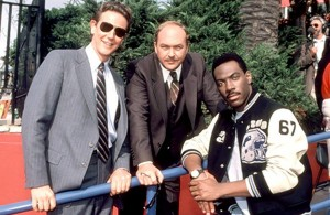 "Eddie Murphy, Judge Reinhold and John Ashton in ""Beverly Hills Cop II"" (Courtesy of Paramount Pictures)"