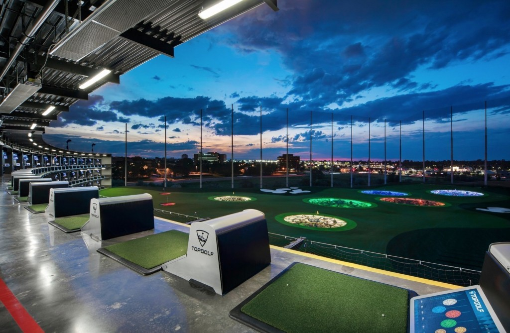 Topgolf tee line and outfield (Photo courtesy of Topgolf)