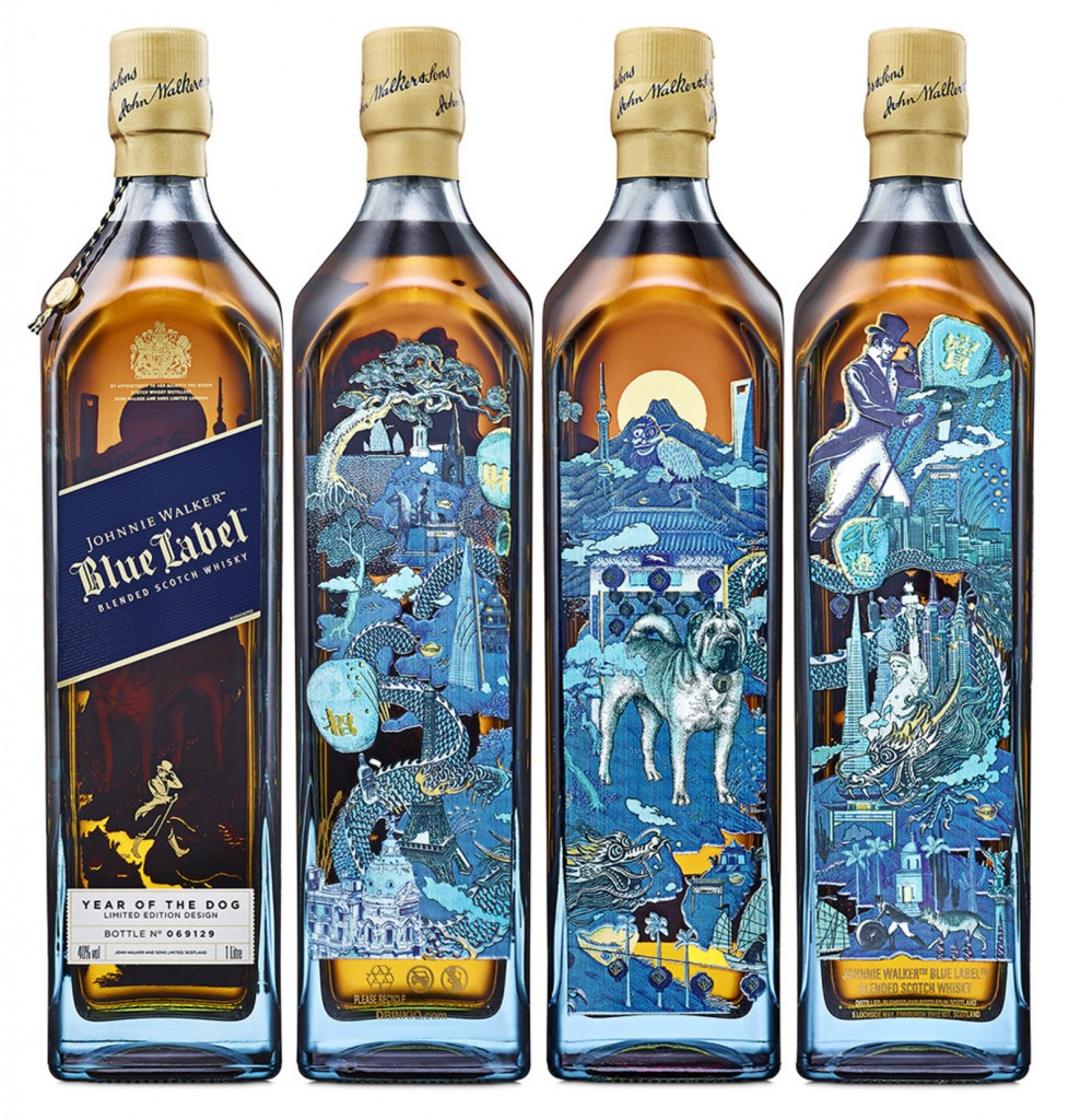 Johnnie Walker has released the Johnnie Walker Blue Label Year of the Dog limited-edition bottle in celebration of the Lunar New Year. (Photo/Diageo)
