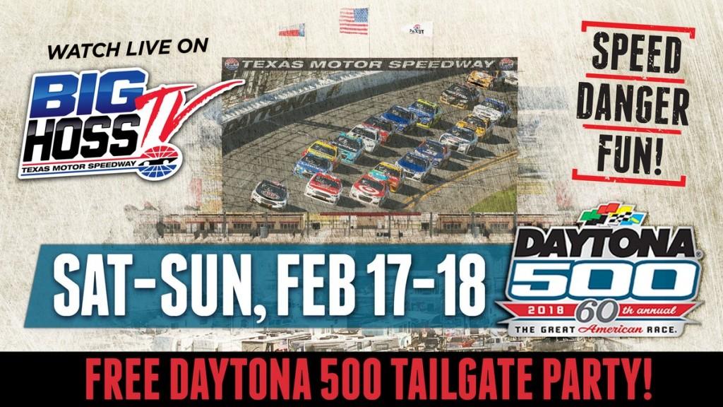 FREE Daytona 500 Watch Party at Texas Motor Speedway